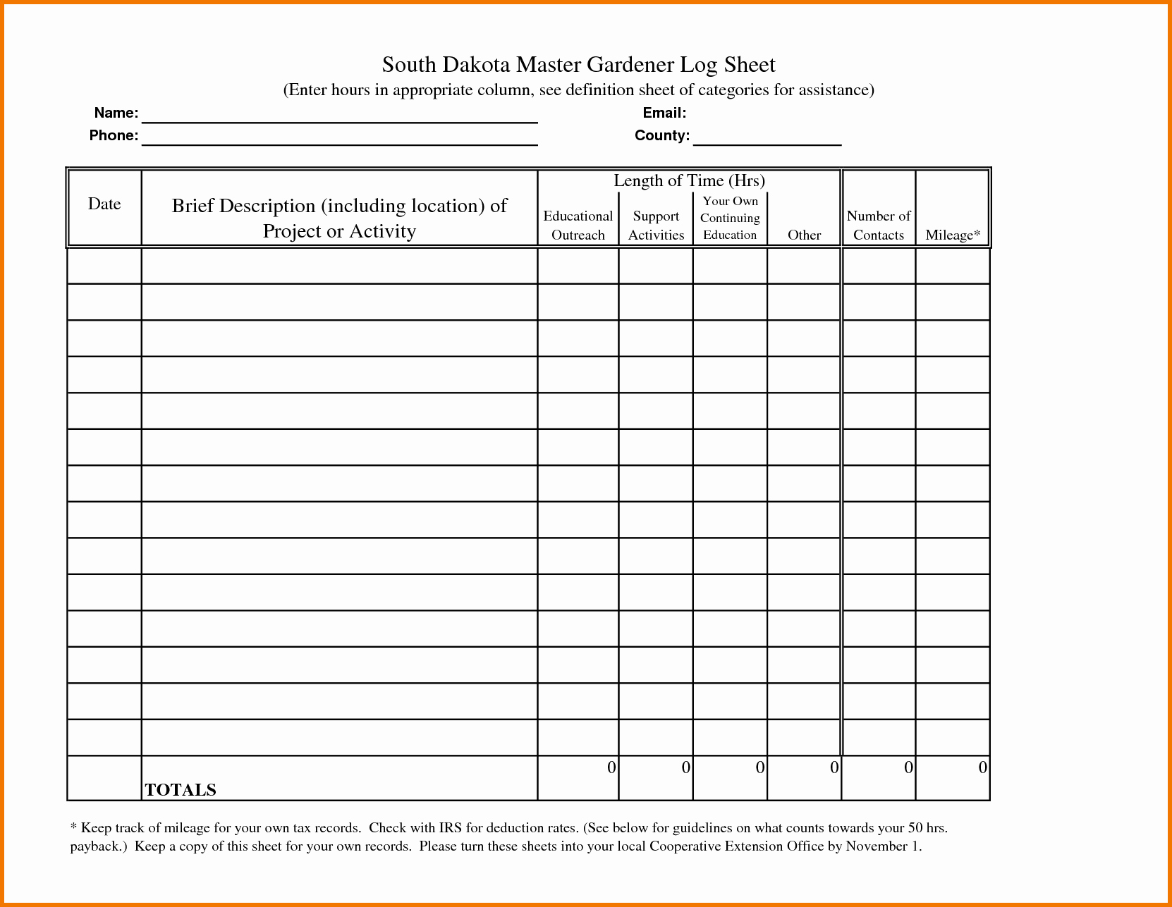 Tracking Volunteer Hours Template Beautiful Log Sheet Template