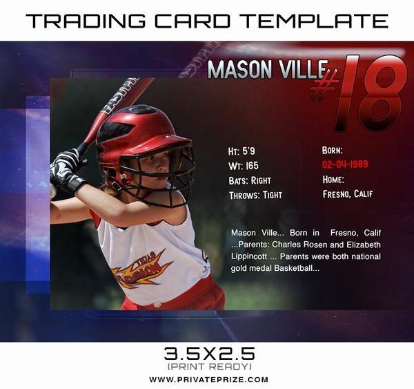 Trading Card Template Photoshop Awesome Mason Sports Trading Card Template
