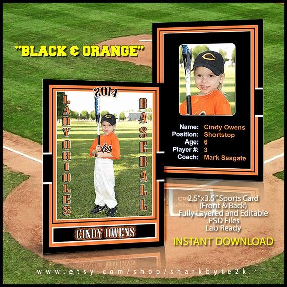 Trading Card Template Photoshop Beautiful 2019 Baseball Sports Trader Card Template for Shop