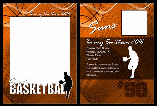 Trading Card Template Photoshop Beautiful Basketball Cutout Trading Card Shop & Elements