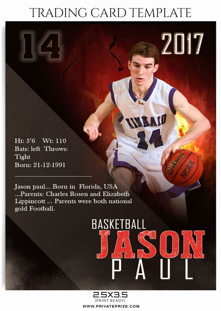 Trading Card Template Photoshop Best Of Jason Paul Sports Trading Card Template