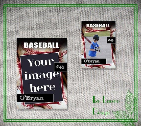 Trading Card Template Photoshop Elegant Psd Baseball Trading Card Template by Ilzesdesigns On Etsy