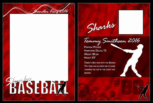 Trading Card Template Photoshop Fresh Baseball Cutout Trading Card Shop & Elements