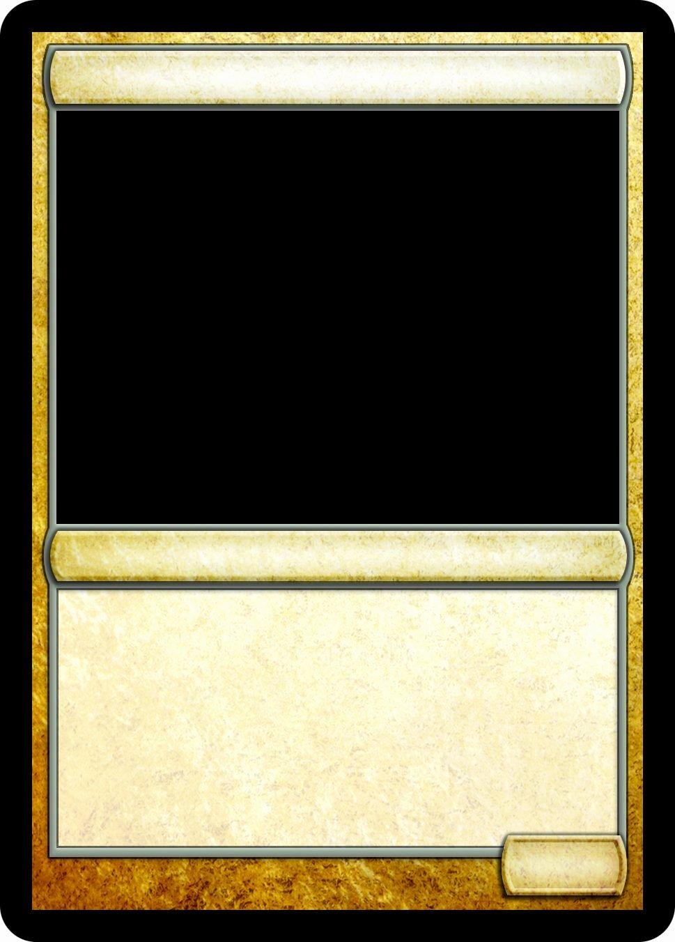 Trading Card Template Photoshop Luxury Magic Trading Card Template