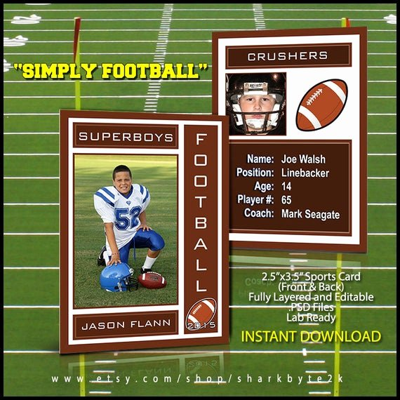 Trading Card Template Photoshop New 2019 Football Sports Trading Card Template for Shop