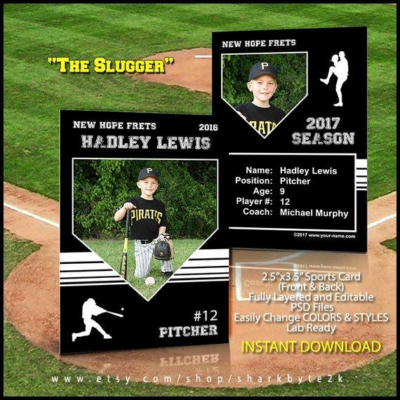 Trading Card Template Photoshop New Baseball Card Template Perfect for Trading Cards for Your