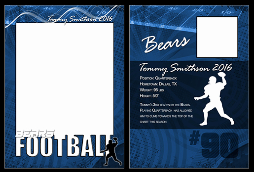 Trading Card Template Photoshop New Football Cutout Trading Card Shop & Elements