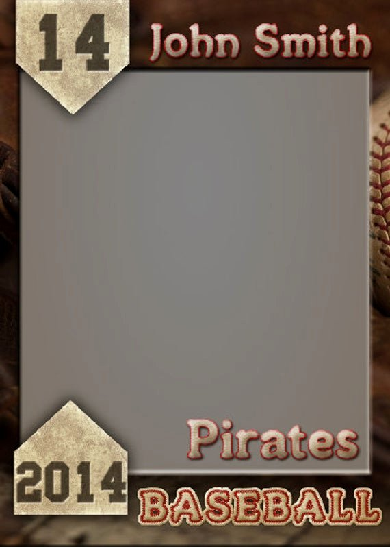 Trading Card Template Photoshop Unique Items Similar to Baseball Trading Card Shop