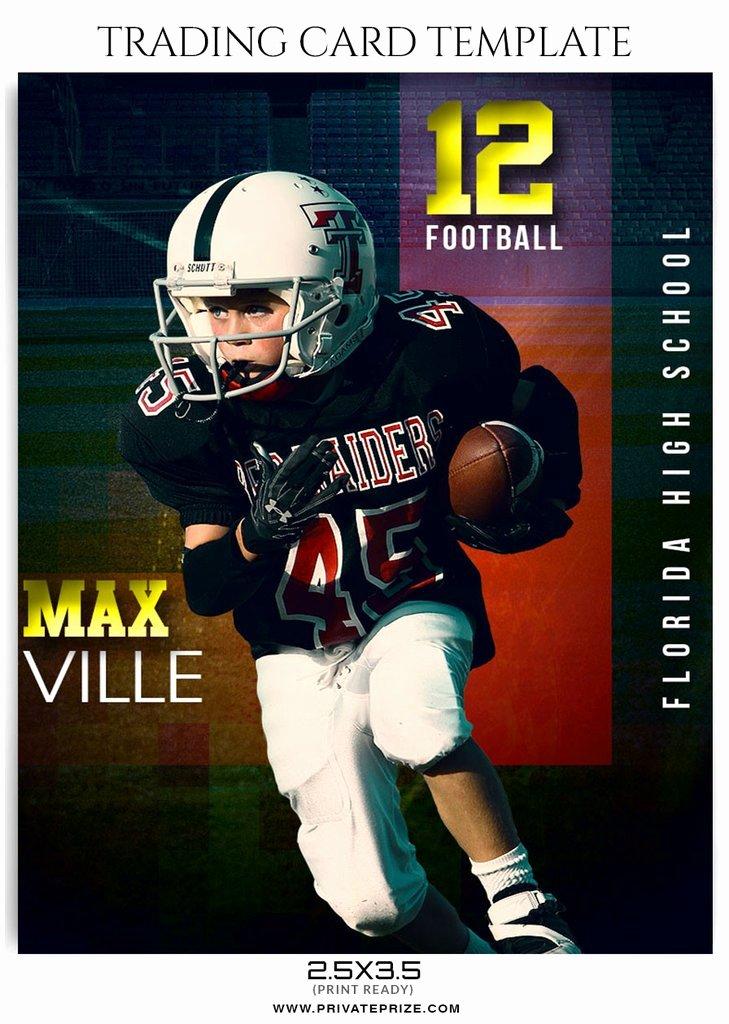 Trading Card Template Photoshop Unique Max Ville Sports Trading Card Template