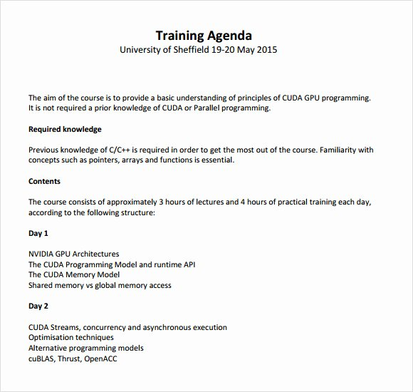 Training Agenda Template In Word Awesome Free 7 Training Agenda Samples In Pdf