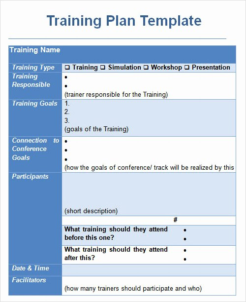 Training Agenda Template In Word Inspirational Sample Plan Template 26 Download Free Documents In Pdf