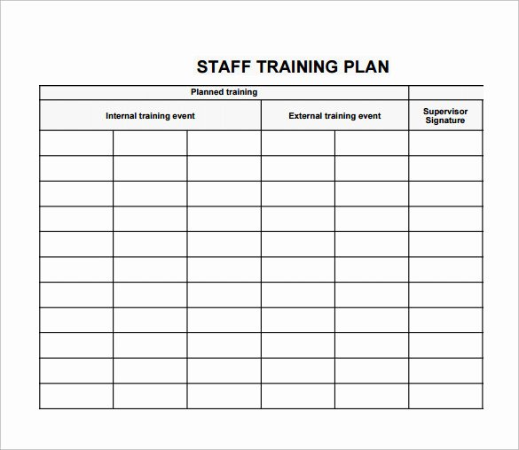 Training Agenda Template In Word Luxury Employee Training Plan Template