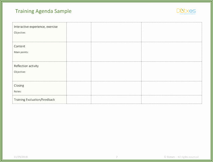 Training Agenda Template In Word New Free Training Agenda Template for Word Effective Agendas