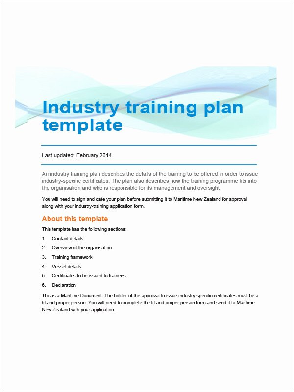 Training Agenda Template In Word New Training Plan Template 16 Download Free Documents In