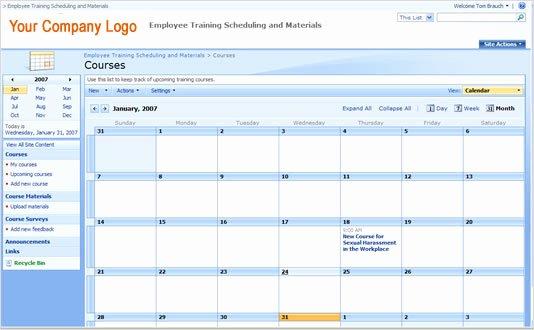 Training Calendar Template Excel Best Of Employee Training Schedule Template In Ms Excel Excel