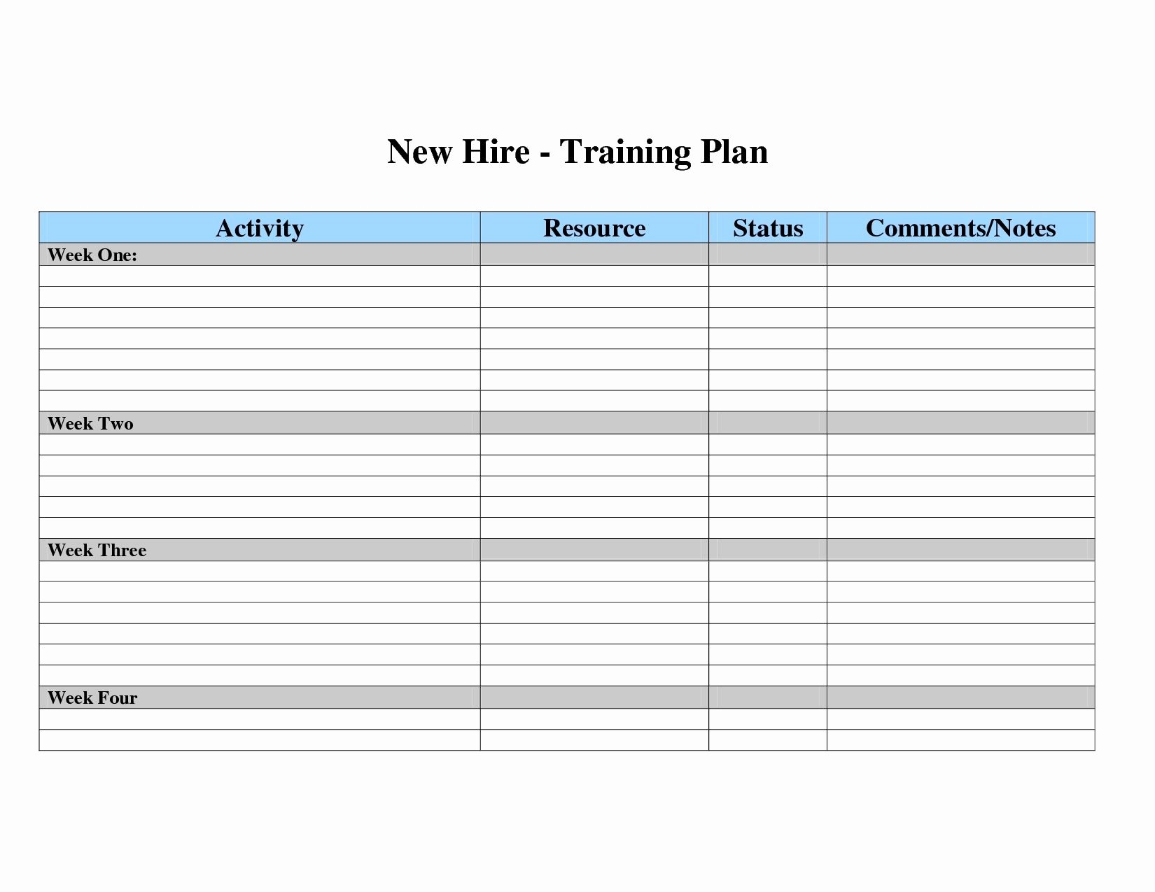 Training Calendar Template Excel Lovely Free Employee Training Matrix Template Excel New Employee