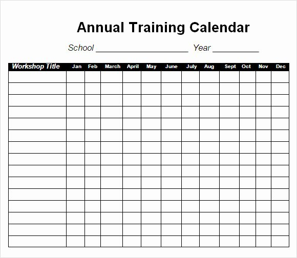 Training Calendar Template Excel Luxury Free 21 Sample Training Calendar Templates In Google Docs
