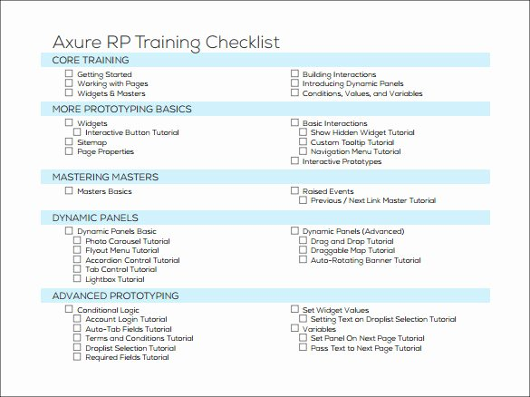 Training Checklist Template Excel Free Best Of Training Checklist Sample 16 Documents In Pdf Word