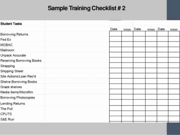 Training Checklist Template Excel Free Lovely Training Checklist Templates Find Word Templates