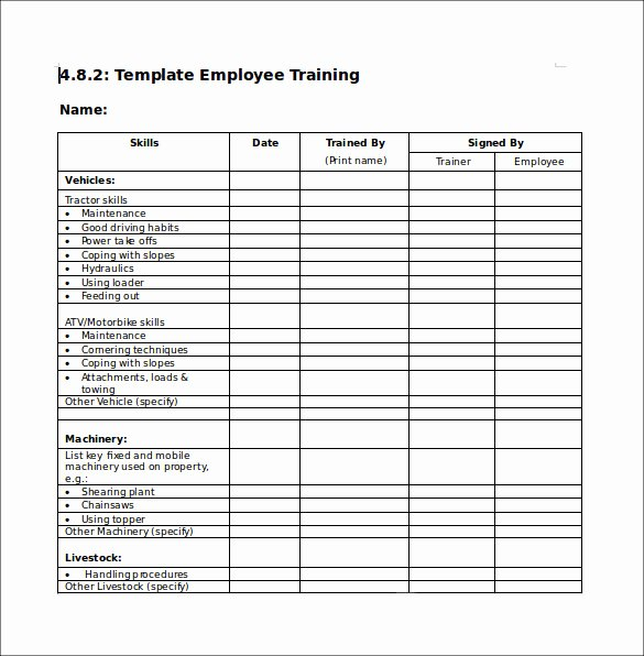 Training Checklist Template Excel Free New Training Checklist Sample 16 Documents In Pdf Word