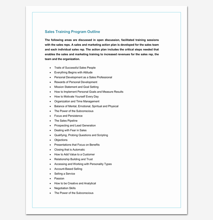 Training Course Outline Template Awesome Training Program Outline Template 19 for Word & Pdf