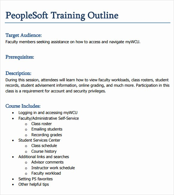 Training Course Outline Template Luxury Army Training Army Training and Evaluation Outline