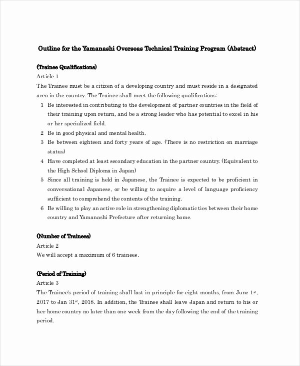 Training Course Outline Template New 11 Training Outline Templates Pdf Word Apple Pages