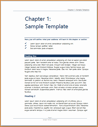 Training Manual Template Word Awesome 3 Training Manual Template Word