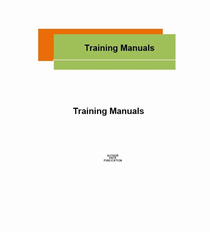 Training Manual Template Word Awesome Training Manual 40 Free Templates & Examples In Ms Word