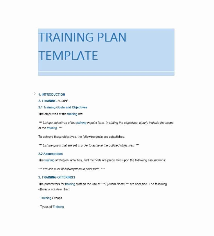 Training Manual Template Word Best Of Training Manual 40 Free Templates & Examples In Ms Word
