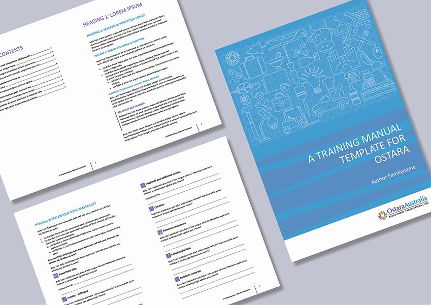 Training Manual Template Word Fresh Cordestra Portfolio
