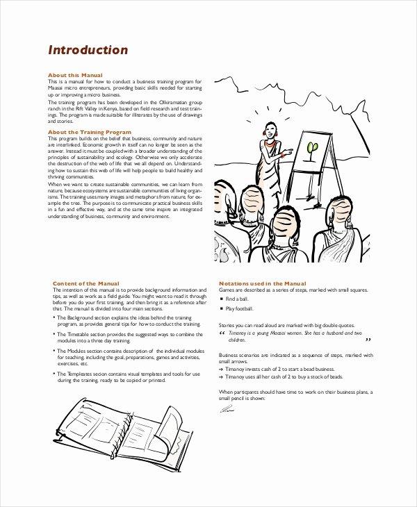 Training Manual Template Word Fresh Training Manual Template 7 Free Pdf Word Download