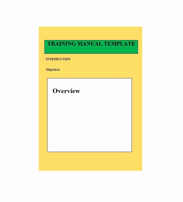 Training Manual Template Word Lovely Training Manual 40 Free Templates & Examples In Ms Word