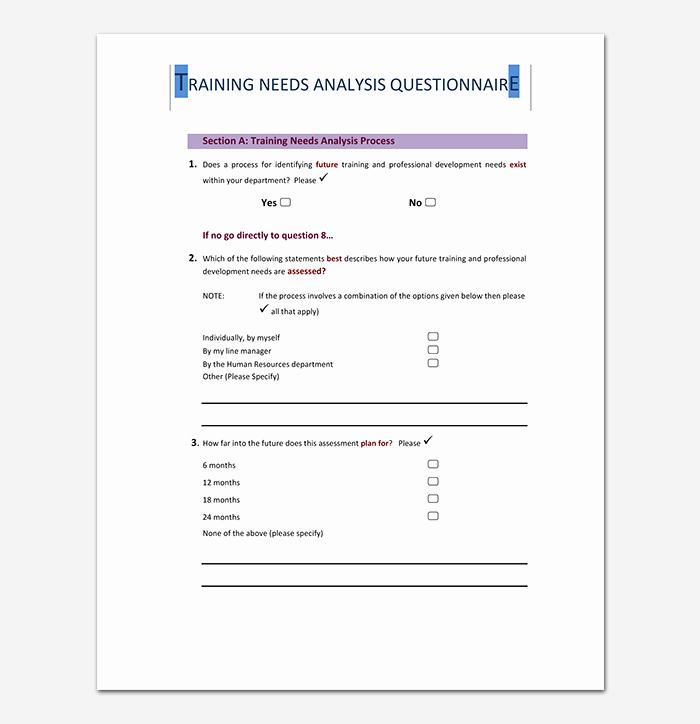 Training Needs Analysis Template Beautiful Needs Analysis Template 20 for Word Excel Pdf