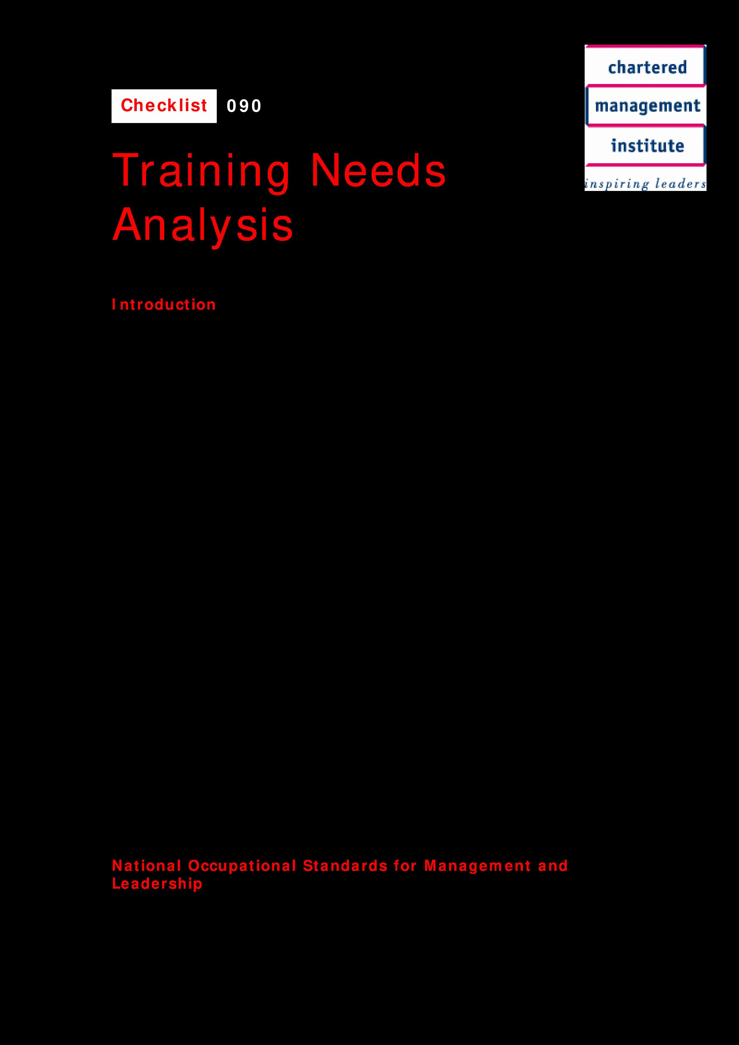 Training Needs Analysis Template Best Of Training Needs Analysis