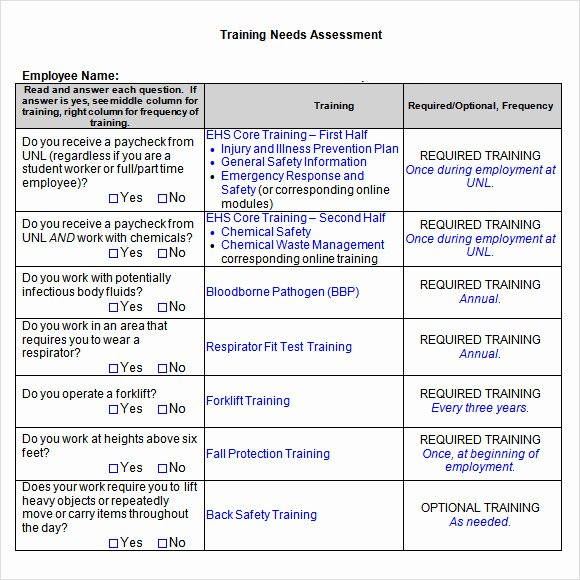 Training Needs assessment Template Beautiful Free 13 Sample Training Needs assessment Templates In Pdf