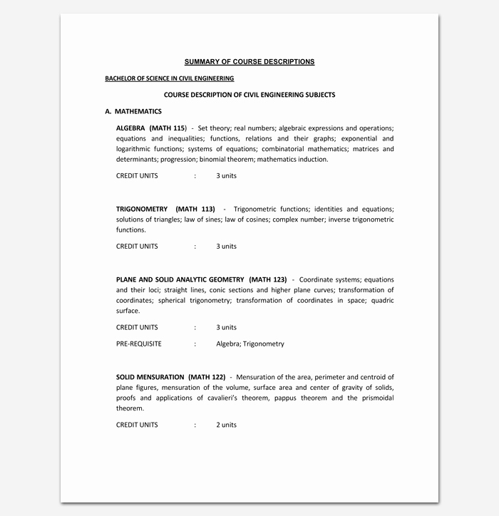 Training Outline Template Word Awesome Training Course Outline Template 24 Free for Word & Pdf