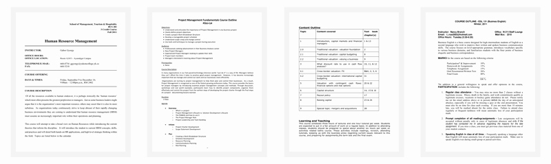 Training Outline Template Word Best Of Course Outline Template 10 Samples for Word & Pdf format