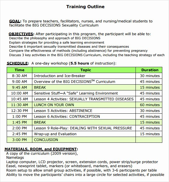 Training Outline Template Word Best Of Free 7 Amazing Training Outline Templates In Pdf