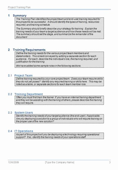 Training Outline Template Word Elegant Project Planning Training Great College Essay