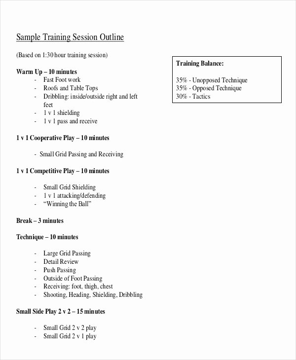 Training Outline Template Word Inspirational 11 Training Outline Templates Pdf Word Apple Pages