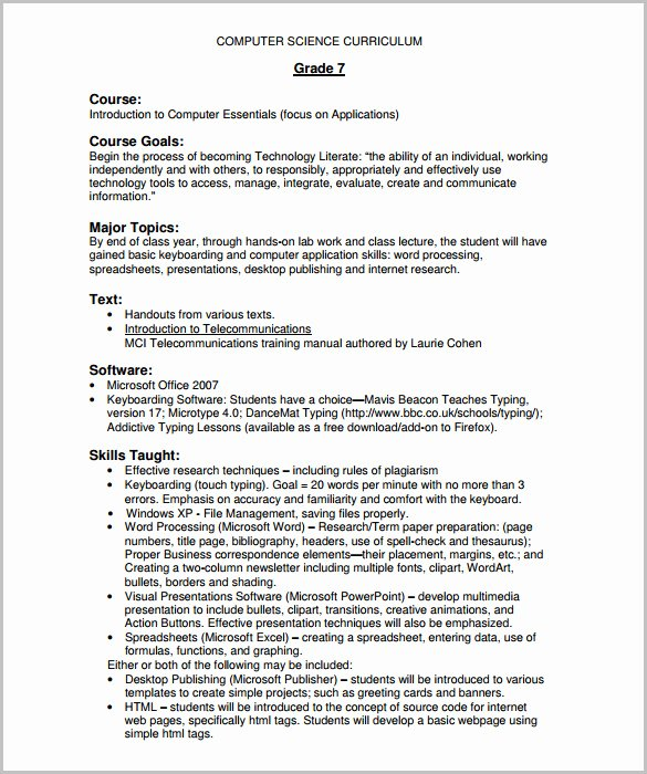 Training Outline Template Word Inspirational 14 Training Course Outline Template Doc Pdf