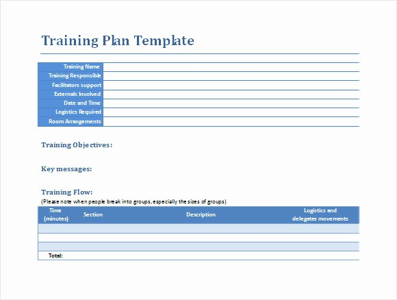 Training Outline Template Word New Sample Training Plan 12 Example format