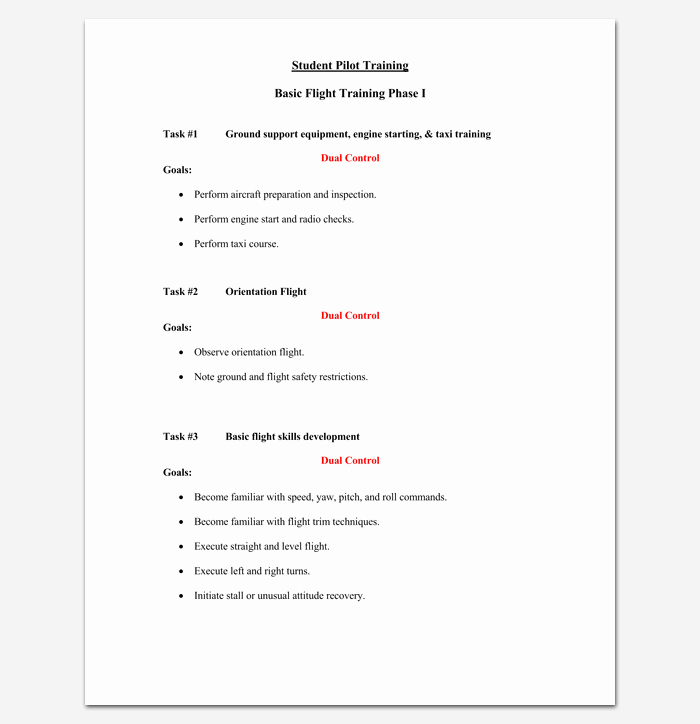 Training Outline Template Word New Training Course Outline Template 24 Free for Word & Pdf