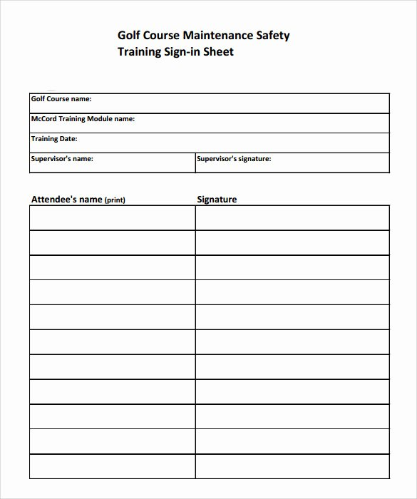 Training Sign Off Sheet Template Fresh Sample Training Sign In Sheet 17 Documents In Pdf
