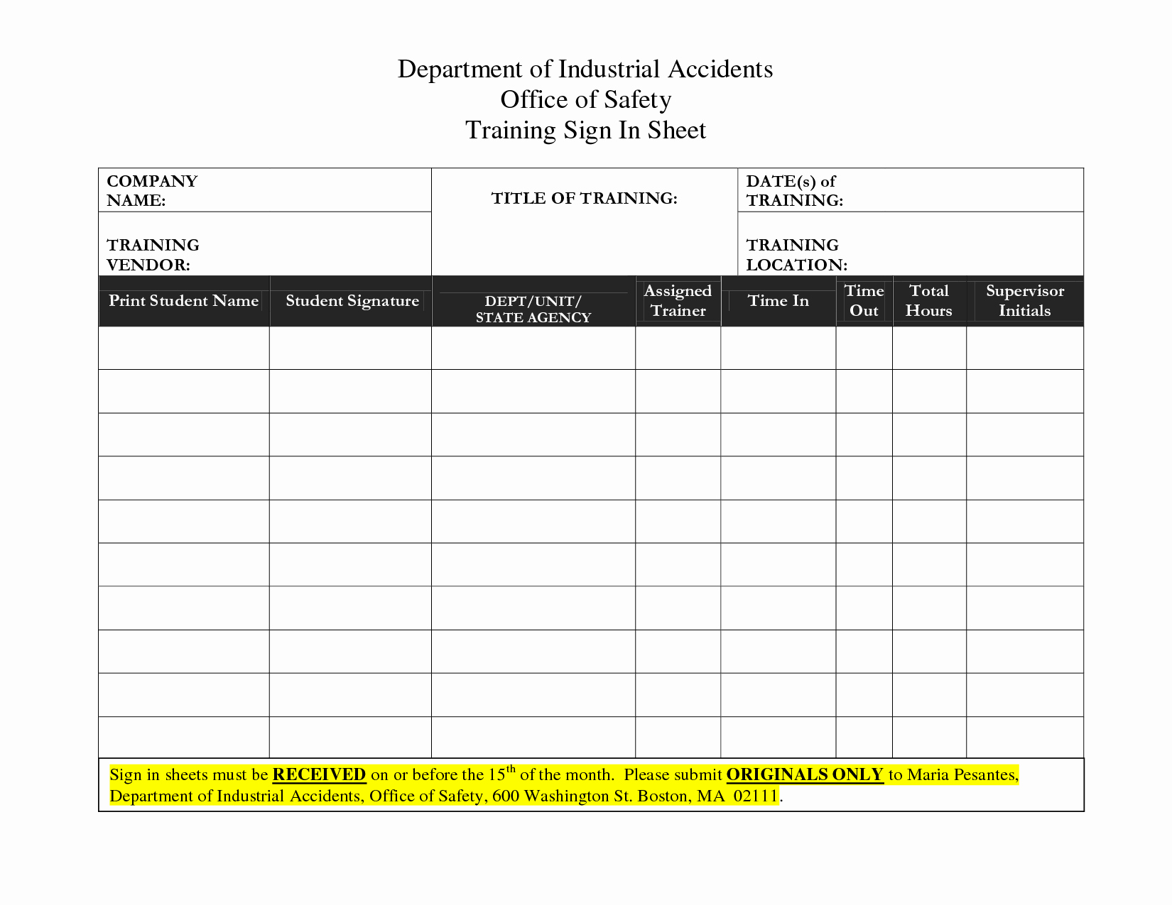 Training Sign Off Sheet Templates Elegant Best S Of Training Sign In Sheet Template Safety