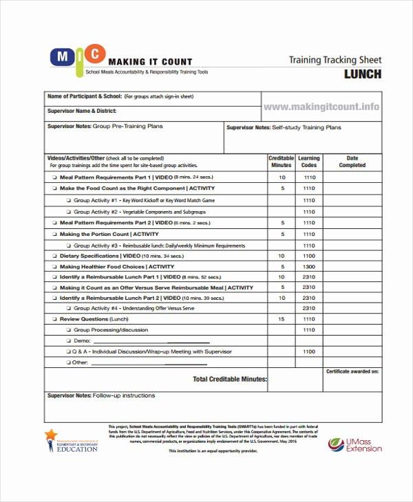 Training Sign Off Sheet Templates Luxury 12 Training Sheet Templates Free Sample Example format