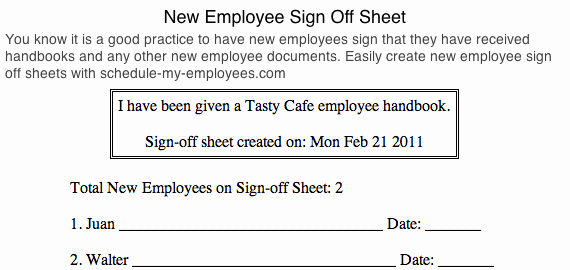 Training Sign Off Sheet Templates New Free Employee Schedule Maker & Costs Manager