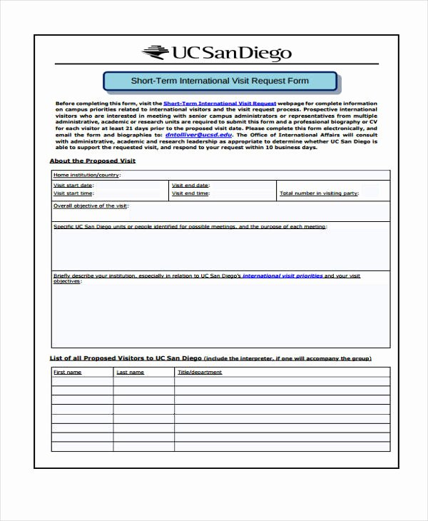 Travel Request form Template Fresh Free 33 Travel Request form In Templates