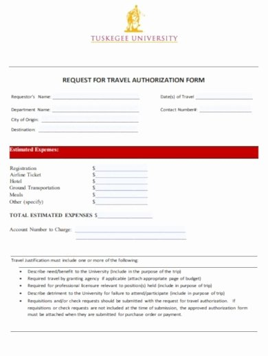 Travel Request form Template Inspirational 10 Travel Expense form Templates Google Docs Word